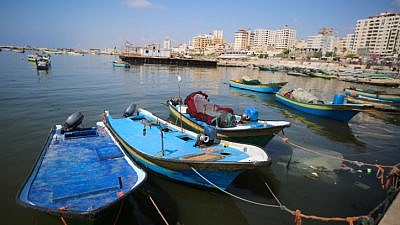 View of fishing boats at the port of Gaza City, June 13, 2019. Photo by Hassan Jedi/Flash90.
