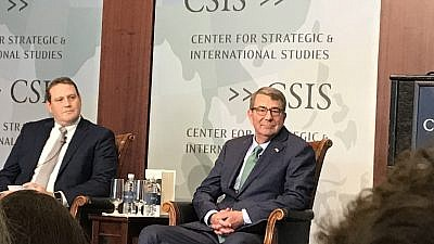 Former U.S. Defense Secretary Ash Carter at the Center for Strategic and International Studies in Washington, D.C., on June 12, 2019. Photo by Jackson Richman/JNS.