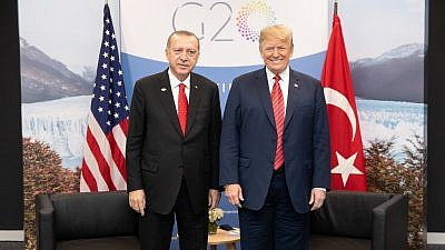 U.S. President Donald Trump participates in a bilateral meeting with Turkish President Recep Tayyip Erdoğan at the G20 Summit, Saturday, Dec. 1, 2018, in Buenos Aires, Argentina. Credit: Official White House Photo by Shealah Craighead.