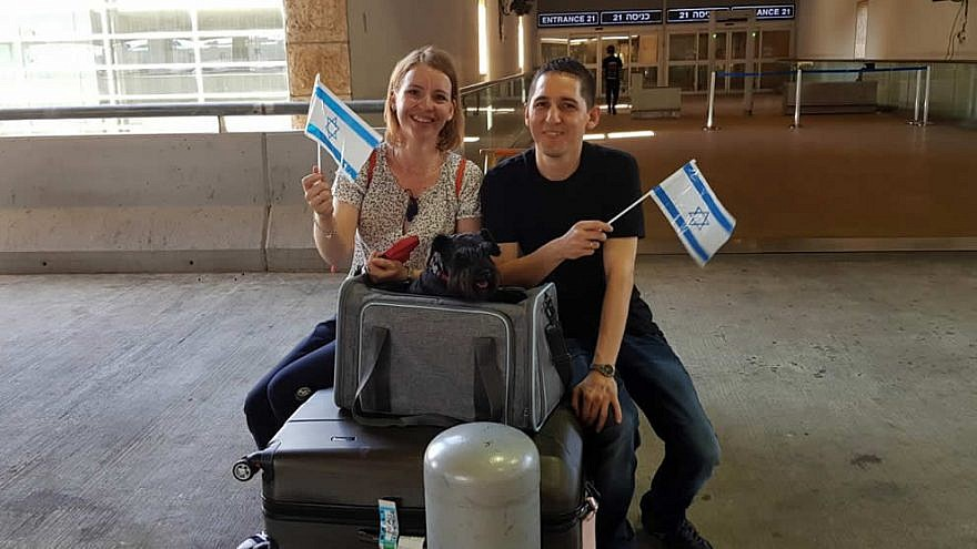 Erika and Sandor Horvat moved from Budapest to Israel in June 2019. Credit: IFCJ.