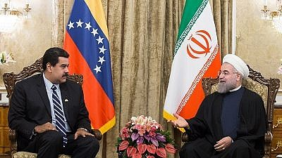 Venezuelan dictator Nicolas Maduro meeting with Iranian Supreme Leader Ayatollah Ali Khamenei in November 2016. Credit: Wikimedia Commons.