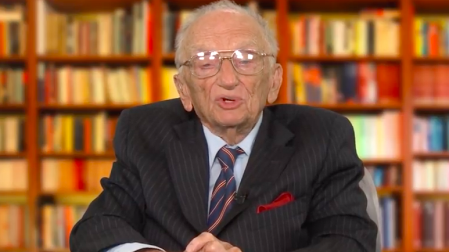 Ben Ferencz, the lead prosecutor in the Nuremberg Trials that followed World War II. Credit: Screenshot.