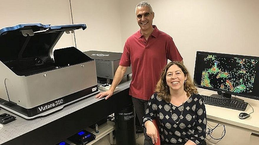 Professor Uri Ashery, head of the Sagol School of Neuroscience and the George S. Wise Faculty of Life Sciences at Tel Aviv University, with Dr. Dana Bar-On of the Sagol School of Neuroscience. Credit: Courtesy.
