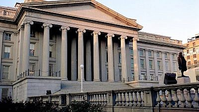 U.S. Department of Treasury headquarters in Washington, D.C. Credit: Wikimedia Commons.