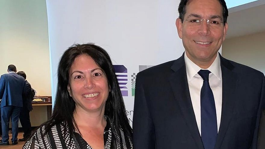 Israeli Ambassador to the United Nations Danny Danon with the diplomat Anat Fisher Tsin. Credit: Israeli Mission to the United Nations.
