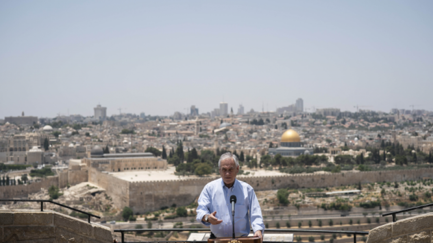 Chilean President Sebastián Piñera in Jerusalem, June 2019. Credit: prensa.presidencia.cl.