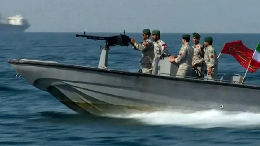 An Iranian patrol boat in the Gulf of Oman. Source: Screenshot.