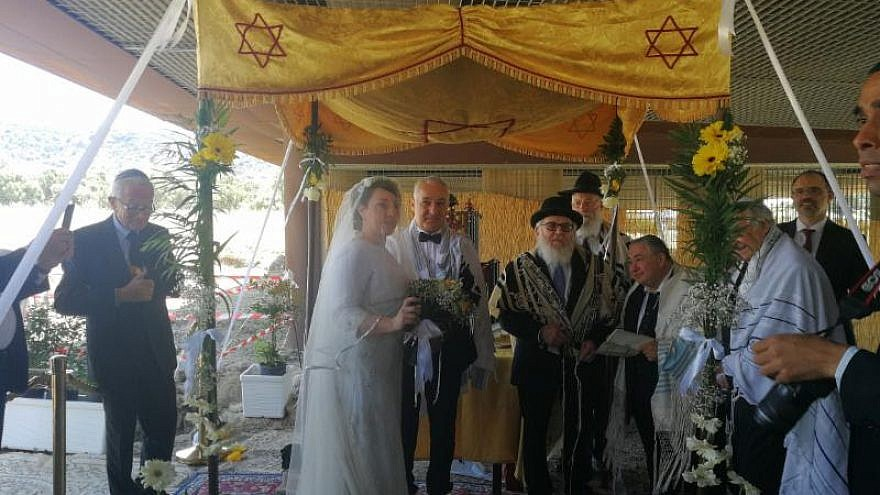 The June 4 wedding of Roque Pugliese and Ivana Pezzoli in Calabria, Italy. Credit: Shavei Israel.