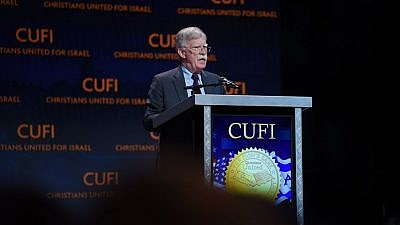 U.S. National Security Advisor John Bolton addresses the annual Christians United for Israel (CUFI) summit in Washington, D.C., on July 8, 2019. Credit: CUFI/Facebook.