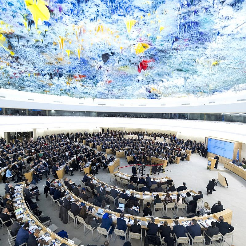 U.N. Secretary-General António Guterres addresses the opening of the 40th session of the Human Rights Council, Palais des Nations, Feb. 25, 2019. Credit: U.N. Photo by Violaine Martin.