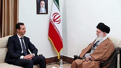 Iranian Supreme Leader Ayatollah Ali Khamenei meets with Syrian President Bashar al-Assad in Tehran, Iran, on Feb 25, 2019. Credit: Wikimedia Commons.