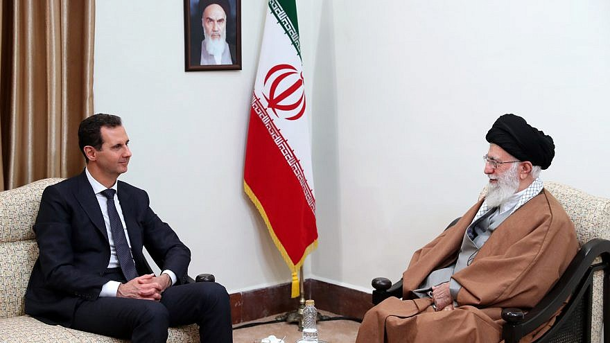 Iranian Supreme Leader Ayatollah Ali Khamenei meets with Syrian President Bashar al-Assad in Tehran, Iran, on Feb 25, 2019. Credit: Wikimedia Commons.