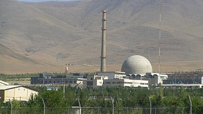 The Arak nuclear plant, an Iranian 40-megawatt (thermal) heavy-water reactor. Credit: Wikimedia Commons.