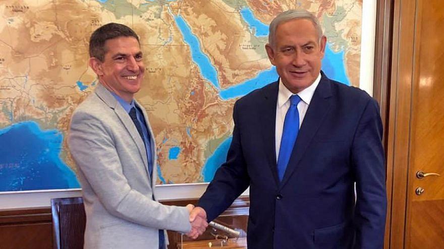 Evan Cohen (left), Israel's new foreign press adviser, announced by Israeli Prime Minister Benjamin Netanyahu on June 14, 2019. Source: Twitter.