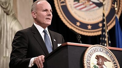 Elan Carr, U.S. Special Envoy to Monitor and Combat Anti-Semitism, at the U.S. Department of Justice Summit on Combating Anti-Semitism in Washington, D.C., July 15, 2019. Credit: DOJ.