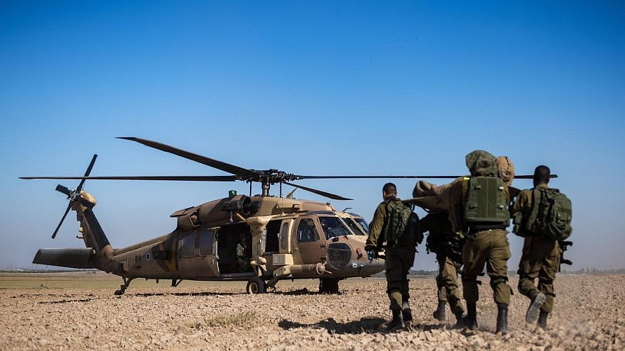 IDF soldiers take part in a war simulation to improve readiness for threats posed by Palestinian terrorist groups in Gaza. Credit: IDF Spokespersons Unit.