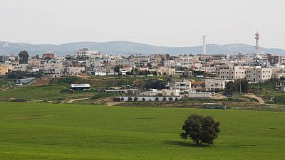 View of the Bedouin city of Rahat in southern Israel on Feb. 13, 2016. Photo by Nati Shohat/Flash90.