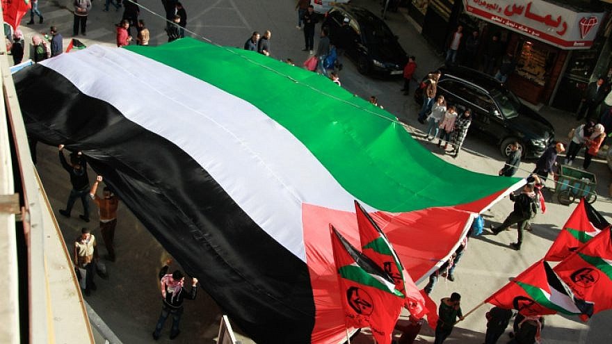 PFLP supporters in Nablus during a rally marking the 51st anniversary of Hamas's founding in the West Bank, Dec. 15, 2018. Photo by Nasser Ishtayeh/Flash90.