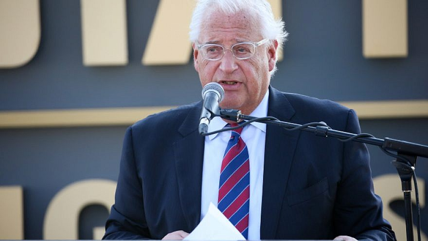 U.S. Ambassador to Israel David Friedman speaks at the dedication ceremony for a new town named after U.S. President Donald Trump in the Golan Heights, June 16, 2019. Photo by David Cohen/Flash90.