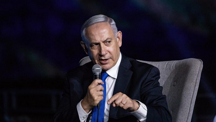 Israeli Prime Minister Benjamin Netanyahu speaks at a conference at the Davidson Center in Jerusalem's Old City on June 27, 2019. Photo by Aharon Krohn/Flash90.