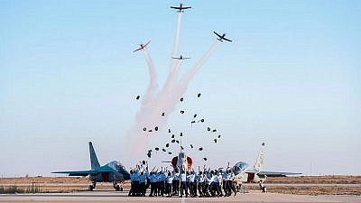 Pilot trainees celebrate their graduation from Israeli Air Force flight school in a ceremony on June 27, 2019. Credit: IAF.