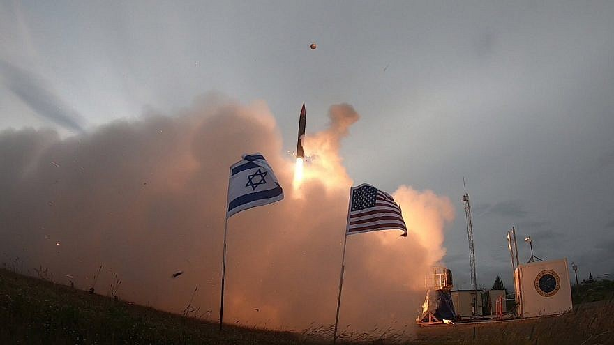 The Arrow 3 missile-defense system is tested in Alaska on July 28, 2019. Credit: Israeli Defense Ministry.