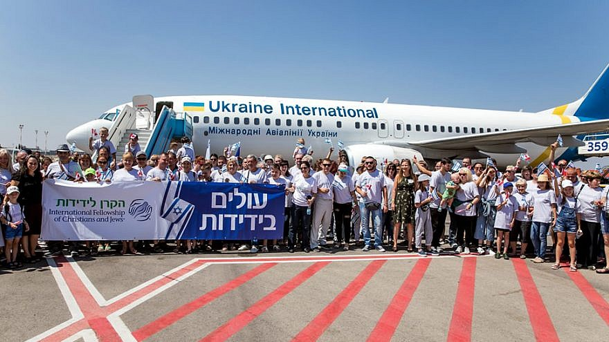 A plane full of 121 new immigrants from Ukraine arrives in Israel on July 29, 2019. Photo by Noam Moskowitz.