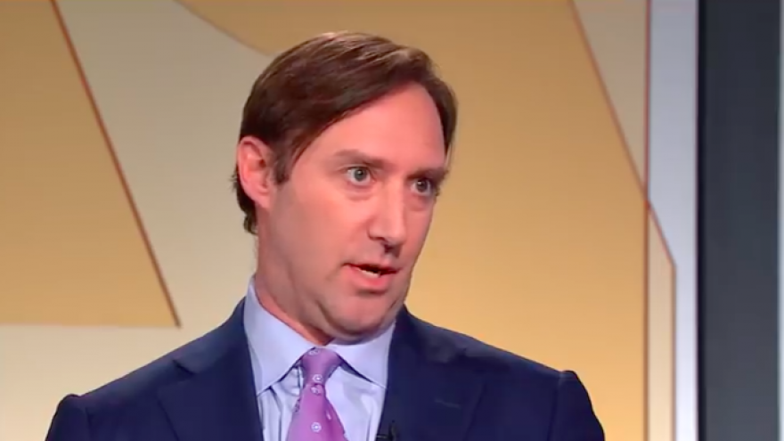 Josh Block, then the CEO of The Israel Project, on the PBS NewsHour on March 7, 2019. Credit: Screenshot.