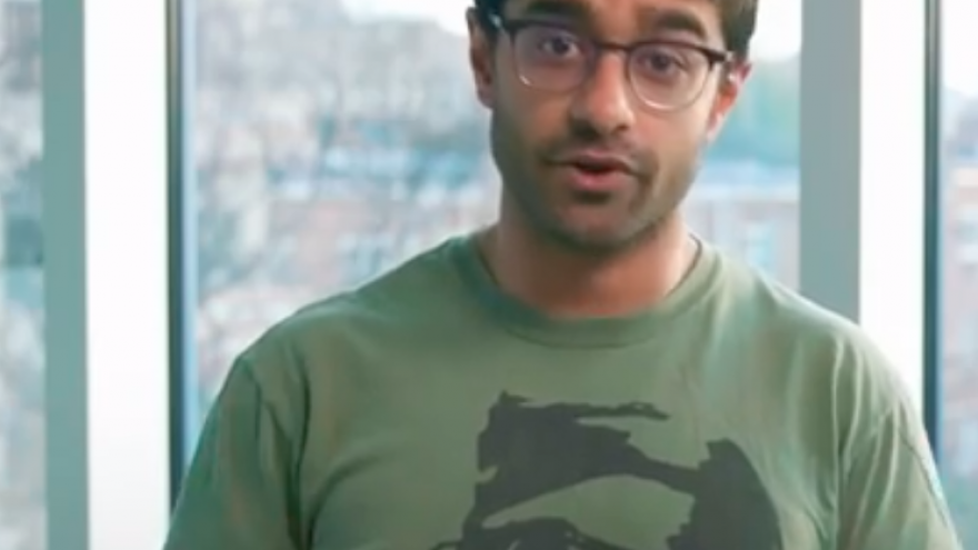 U.S. Rep. Alexandria Ocasio-Cortez's chief of staff Saikat Chakrabarti. Credit Screenshot
