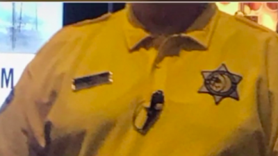 MGM Resorts International intends to redesign its security uniform after a complaint by a Jewish customer at a casino near Cleveland that the security badge-type star on it resembles the yellow Star of David that Jews were forced to wear in the Holocaust, July 2019. Credit: Screenshot.