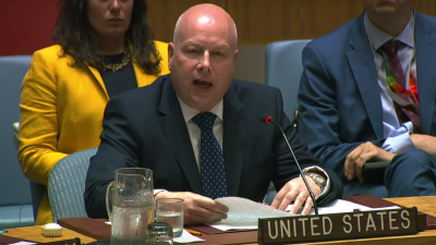 U.S. Mideast envoy Jason Greenblatt at a session of the U.N. Security Council on July 23, 2019. Source: Screenshot.