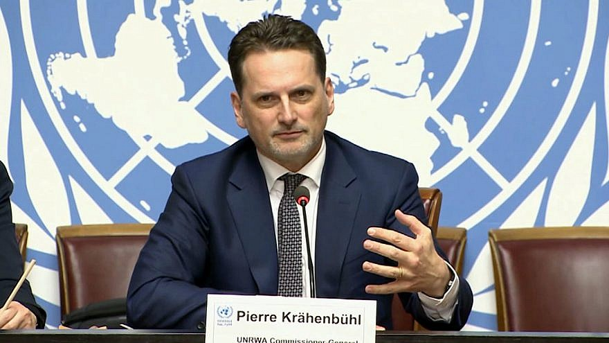 UNRWA Commissioner-General Pierre Krähenbühl. Credit: U.N. TV/Multimedia.