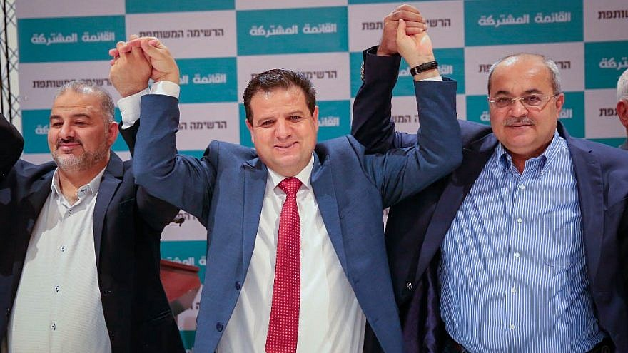 The heads of the Arab-Israeli parties Hadash, Ta'al and UAL seek a joint list, July 27, 2019. Credit: Hadash.