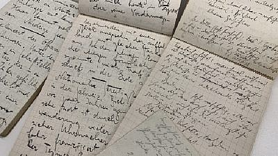 A Paris travel journal and Kafka manuscript from the literary estate of Max Brod. Credit: National Library of Israel.