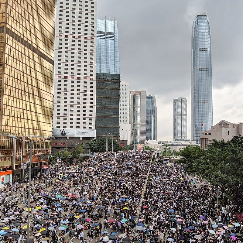 Hong Kong anti-extradition bill protest in June 2019. Credit: Studio Incendo via Flickr.