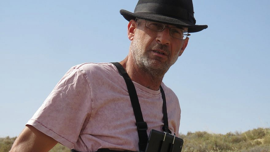 Far-left activist Guy Hirschfeld filming Israel Defense Forces and residents in the Jordan Valley. Credit: Im Tirtzu.