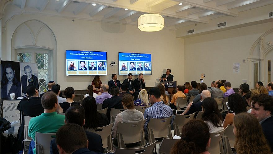 A panel of millennial Jewish leaders discussing ways to combat anti-Semitism in New York City, Aug. 7, 2019. Photo by Romy Ronen.
