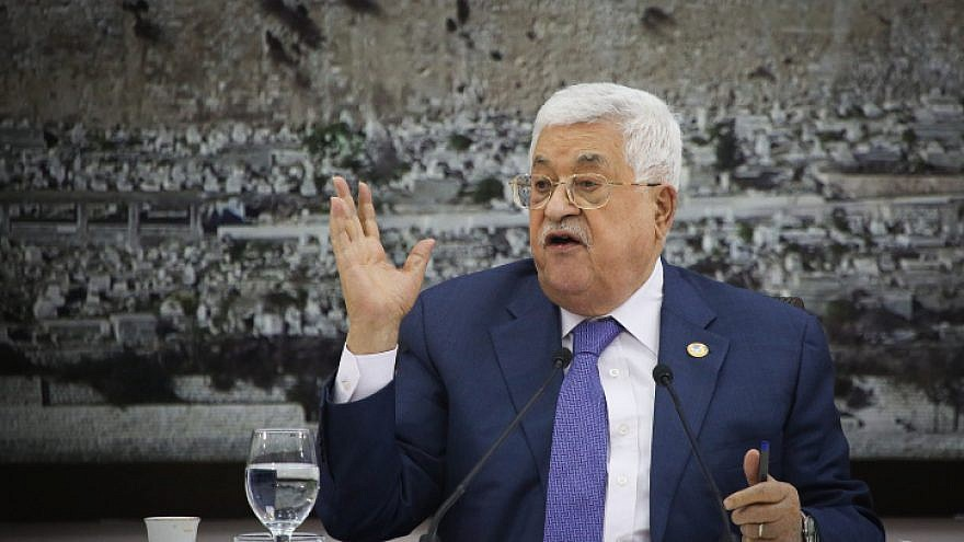 Palestinian Authority leader Mahmoud Abbas speaks during a meeting of the Palestinian leadership in Ramallah on July 25, 2019. Photo by Flash90.