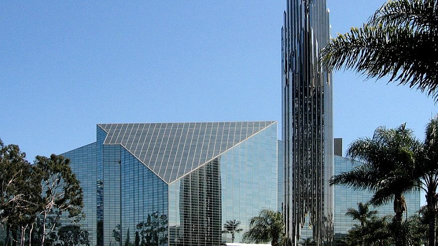 The exterior of Crystal Cathedral in Garden Grove, Calif. Credit: Arnold C. Buchanan-Hermit via Wikimedia Commons.
