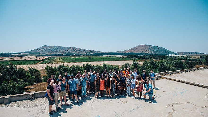 A group of 42 legal, international relations and military leaders from around the world who met with Israeli military officials and politicians in mid-august 2019 on a tour of the region. Credit: Our Soldiers Speak.
