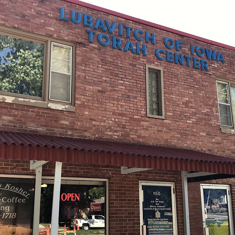 Lubavitch of Iowa Torah Center and Maccabee's Kosher Deli in Des Moines, Iowa. Photo by Jackson Richman/JNS.