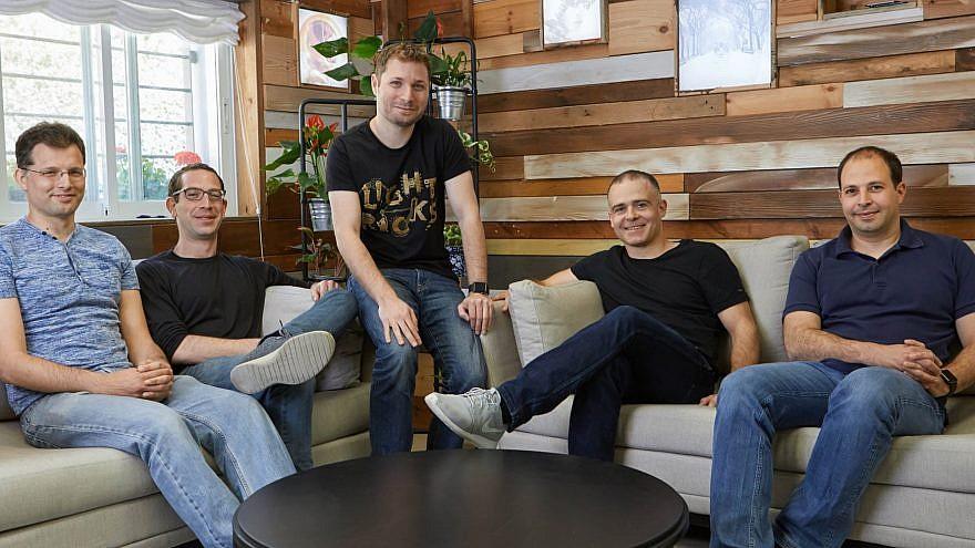 From left: Lightricks founders Nir Pochter, Itai Tsiddon, Yaron Inger, Zeev Farbman and Amit Goldstein. Courtesy of Lightricks.com.