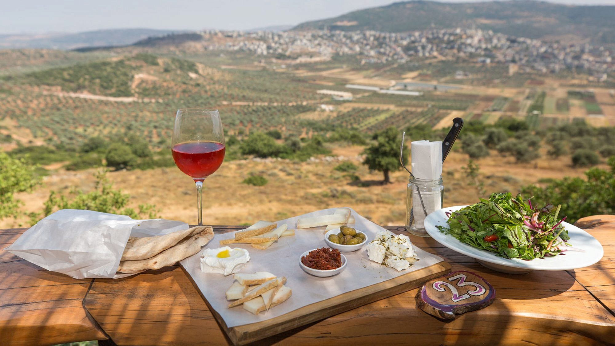 A view of Israel's Lotem Winery in the Galilee. Photo by Dror Arzi.