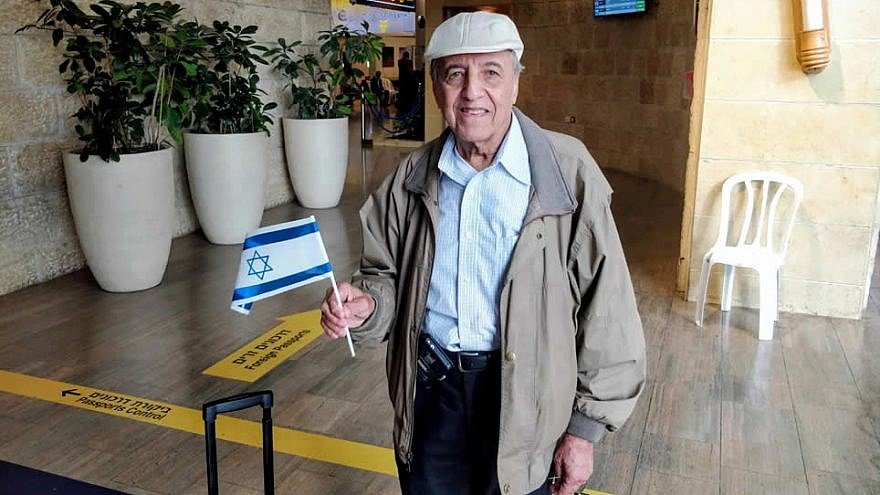 Ray Negari, 80, emigrated from Iran to the United States in the 1960s with his wife, and is now fulfilling a dream and settling in Israel, July 31, 2019. Photo by Tomer Malichi.