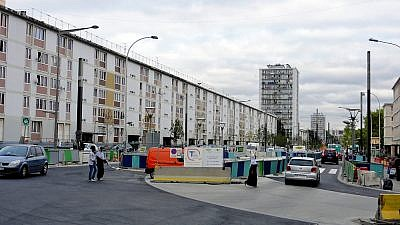 "Nicknamed ""Little Jerusalem,"" the Sarcelles district is known for its large population of Jewish residents, with public housing expanding there in the 1950s and 1960s due to French and Jewish Algerians who fled there as a result of the Algerian War of Independence. Credit: Wikimedia Commons."