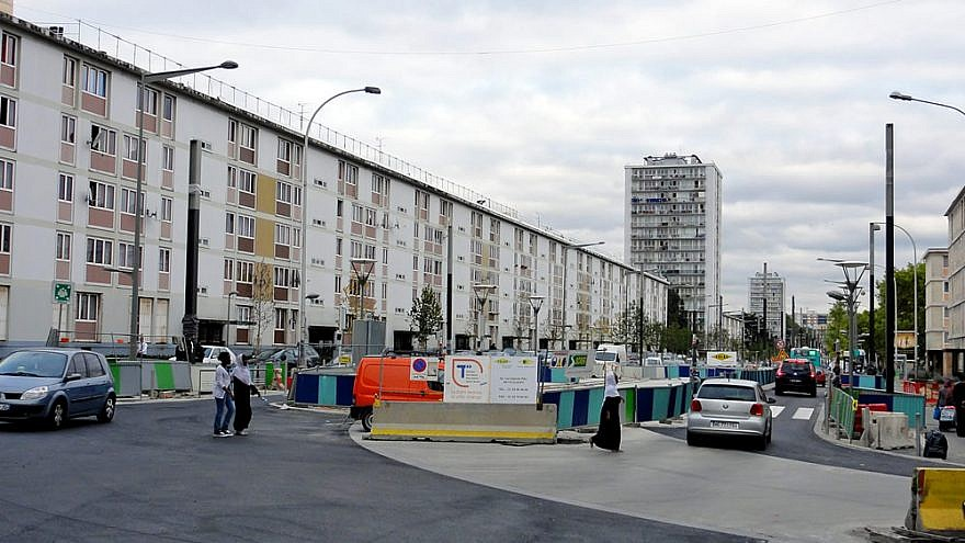 """Nicknamed """"Little Jerusalem,"""" the Sarcelles district is known for its large population of Jewish residents, with public housing expanding there in the 1950s and 1960s due to French and Jewish Algerians who fled there as a result of the Algerian War of Independence. Credit: Wikimedia Commons."""