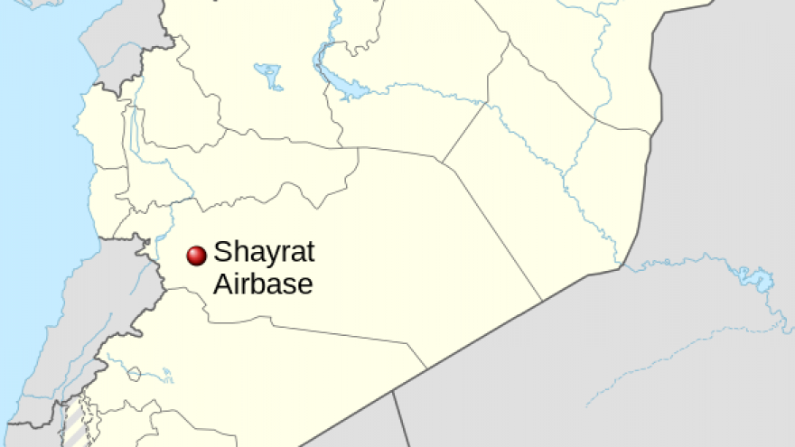 The Shayrat Airbase in the Homs district of Syria. Credit: Wikimedia Commons.