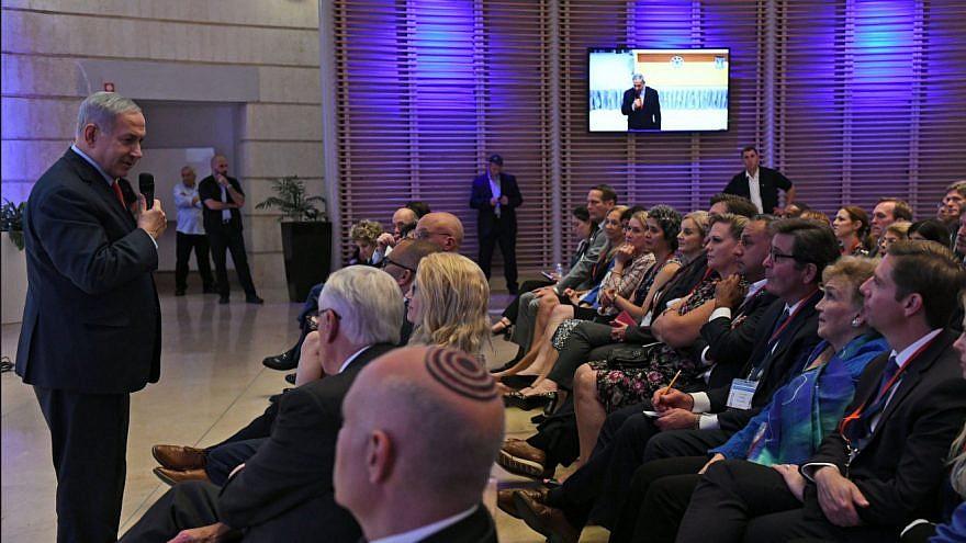Israeli Prime Minister Benjamin Netanyahu meets with 41 Democratic members of the U.S. House of Representatives in Jerusalem on Aug. 7, 2019. Photo: Screenshot.