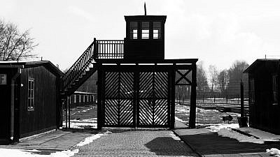 The entrance to the Stutthof concentration camp in Poland, 2008. Credit: Wikimedia Commons.