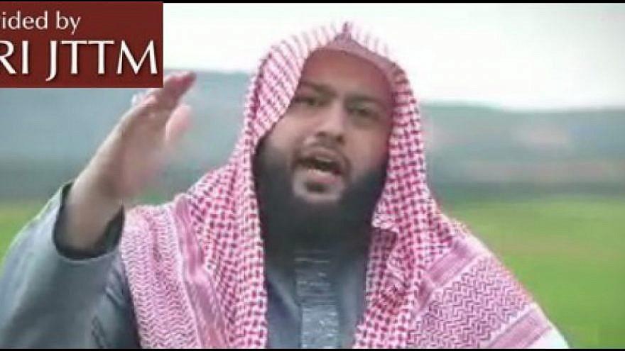 Abdallah Al-Muhaysini urging support for Hamas using bitcoin. (MEMRI)